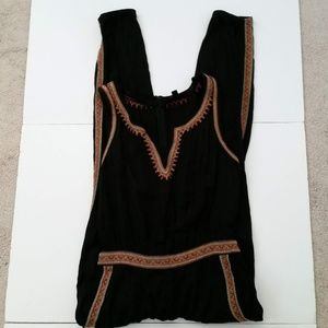Lucky Brand Womens Jumpsuit Romper Sleeveless M